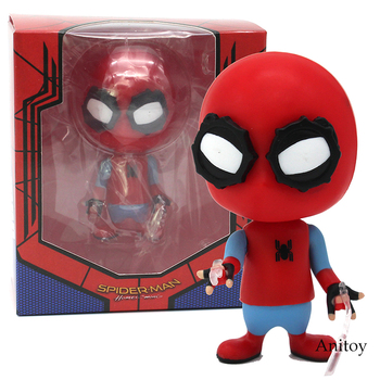 Örümcek Adam Kayma S Versiyonu Örümcek Adam Homecoming Bobble Kafa Spiderman PVC Action Figure Model Oyuncak 9.5 cm 43059