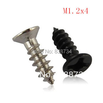 KA m1.2*4mm carbon steel nickel plated self tapping screw m1.2 46501